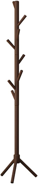 Coat Rack Coat Rack Stand,Coat Rack Coat Hat Stand Garment Rack, Multifunction Triangular Base greenical Coat Rack, Wood Modern Simplicity Bedroom Living Room Study,B,42  175CM