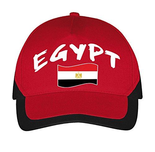 Supportershop Cap Ägypten Fußball, Rot, FR: Einheitsgröße (Größe Hersteller: Du)