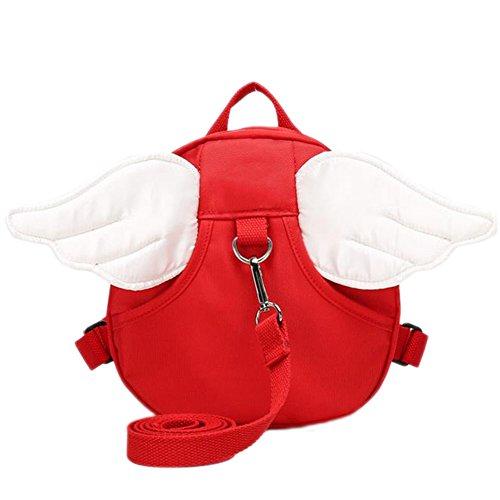 Demarkt–Niedlich Cinturón de Seguridad Mochila con alas de ángel para bebé niños rojo