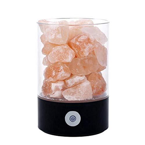 M2 Himalaya kristallen zoutlamp natuurlijke 36 V negatieve cilindrische ionen 780 g USB opladen nachtlampje
