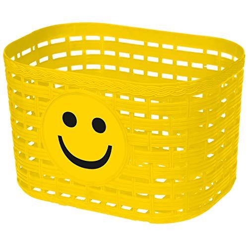 Kinderfahrrad Korb Kunststoff für vorne/hinten 4 Farben Fahrradkorb - 01170319 (Gelb)