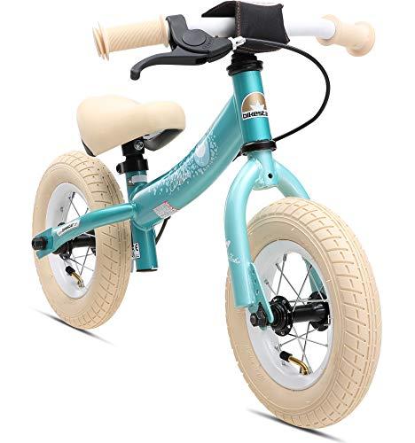 BIKESTAR Kinder Laufrad Lauflernrad Kinderrad für Jungen und Mädchen ab 2-3 Jahre | 10 Zoll Sport Kinderlaufrad | Türkis | Risikofrei Testen