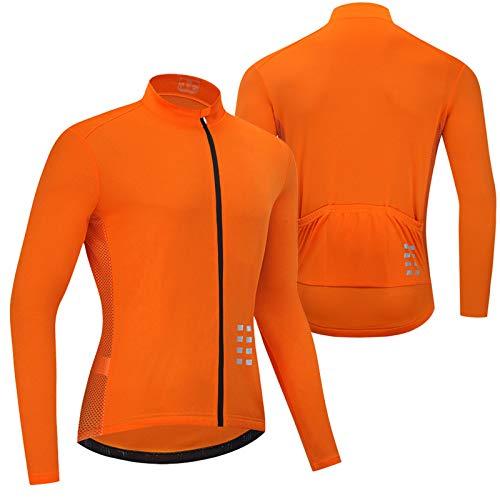 Primavera Verano Maillot Ciclismo Hombre Camiseta Ciclismo Manga Larga,Ultralight Transpirable MTB Camisa,Camiseta...