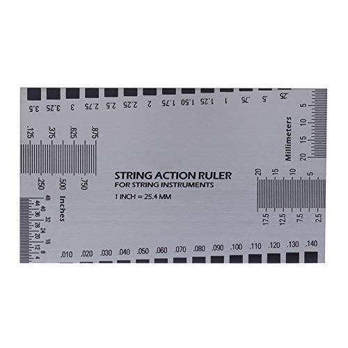 1 stücke Gitarre Teile Zubehör String Action Gauge Lineal Barock Gitarre Bass String Pitch Luthier Werkzeug für Saiteninstrumente