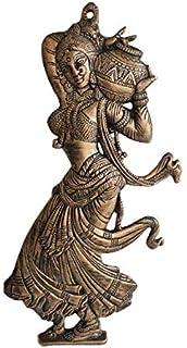Akriti Brass Art Wares Metal Lady Wall Decor Decorative Wall Hanging Showpiece (580GR, 18x2x43 cm)