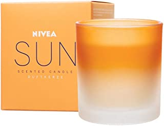 NIVEA Sun Original Bougie parfumée, Jolie Bougie en Verre au Parfum Incomparable de crème Solaire Sun, Bougie délicatement...