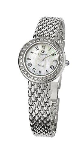 Orphelia Damen Analog Quarz Uhr mit Weißgold Armband MON-7071
