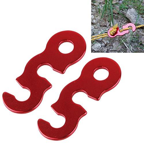 DIDA Zeltzubehör 2 PCS Zelt Wind Seil einstellen Buckle Neue Outdoor-Camping-Wind Seil Stopper Markise Wigwam Buckles Kleines Zeltzubehör anpassen (Color : Red)