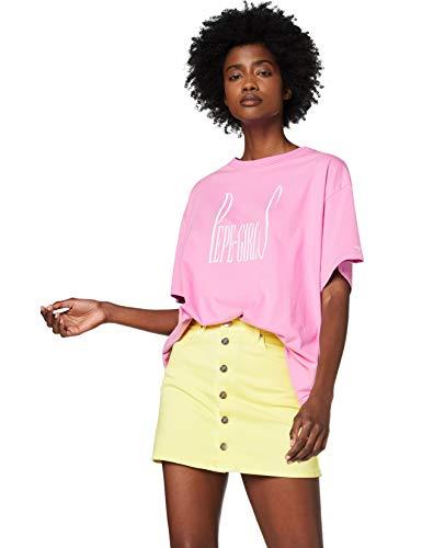 Pepe Jeans Lula Camiseta, Rosa (Soft Pink 305), Small para Mujer