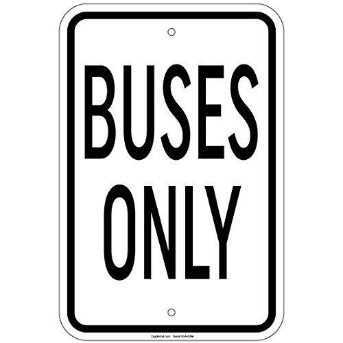 HSSS Bussen tekenen alleen 8x12 Inch Aluminum Signs Retail Store