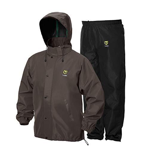 TideWe Rain Suit, Breathable Waterproof Durable Sport Rainwear (Brown Size L)