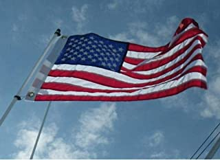Cool Water Products Rod Holder Boat Flag Pole with American Made USA Flag (4 Foot Length)