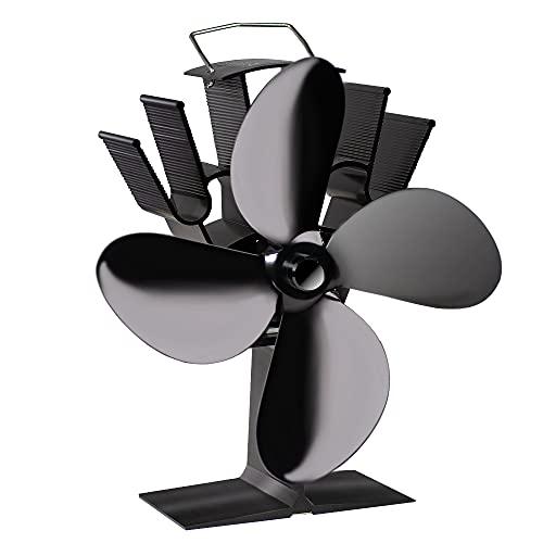 Ventola Stufa Legna A 4 Pagine, Ventilatore A Legna/Legna Da Ardere Alimentato A caldo Funzionamento Silenzioso/Ecologico