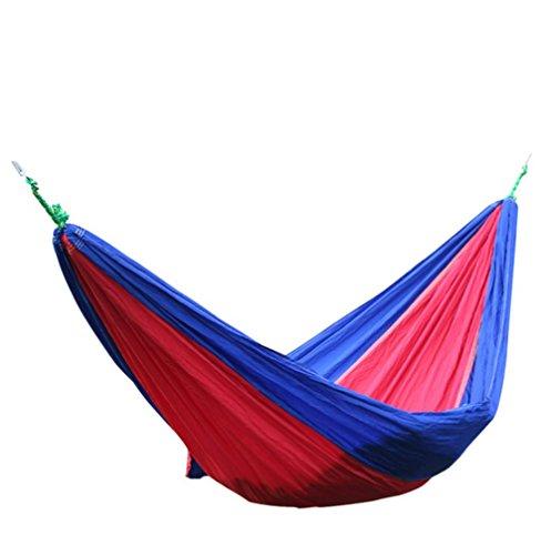 weiwei Hamac De Loisirs Extérieurs, Hamac Pliant De Portable Parachute en Nylon 2 Voyage Chaise De Camping