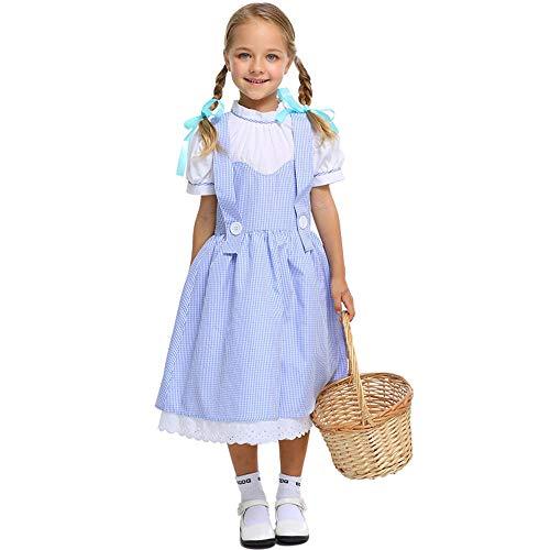 hhalibaba Niños Niños Mago de Oz Hombre de hojalata Dorothy Espantapájaros Bruja León Disfraces de Cosplay para Niñas Niños Adolescente Niña Niño Halloween