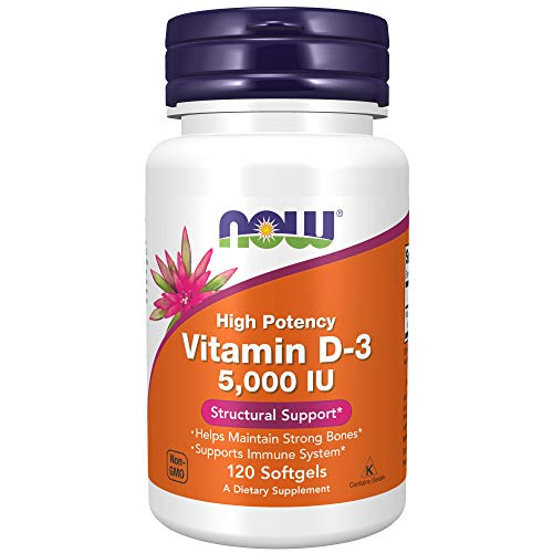 Now Foods Vitamin D - 3 5000 IU Structural Support Soft Gels - 120 Count