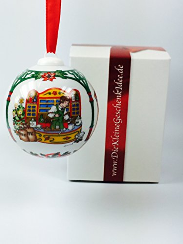 Hutschenreuther Porzellan Weihnachtskugel 1998 in neutraler Geschenkverpackung NEU 1.Wahl
