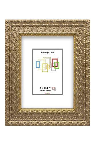 Chely Intermarket, Marco de Fotos 20x25cm (Dorado)...