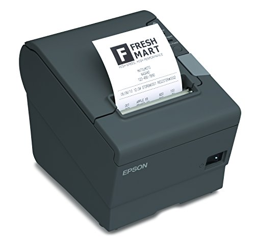 Epson Impresora de Tickets Robústa TM-T88V Serial-USB, Térmica color Negro