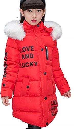FULUOYIN Mädchen Winterjacke mit Fellkapuze Outerwear Oberbekleidung Verdichte Kinderjacke Wintermantel Mantel Parka