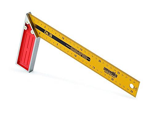 Ausonia - 47463 Escuadra graduada de carpintero de alta precisión con mango de aluminio, 35 cm