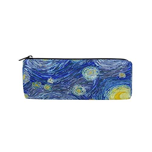 HaJie Estuche de lápices con estampado de pintura al óleo con cremallera, bolsa organizadora de papelería, para niñas, niños, mujeres y hombres