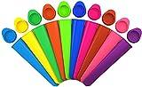 iNeibo moulle a Glace pour Glace à l'eau, Silicone, moulle Esquimaux Silicone coloré - Lot de 10