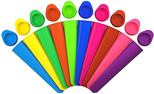 iNeibo Juego de moldes para Helados, Polos de Hielo, de Silicona, sin BPA (10 colores) (6 Multicolor) (Juego de 10)