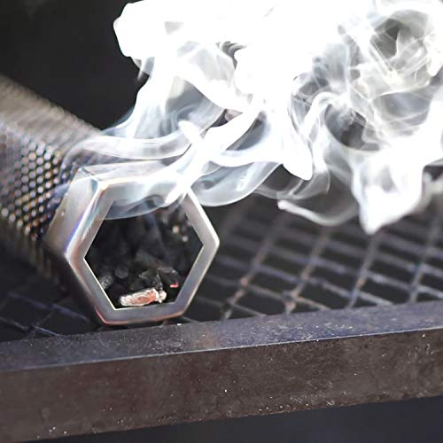 LIZZQ Premium Pellet Smoker Tube 12 inches - 5 Hours of Billowing Smoke - for Any Grill or Smoker, Hot or Cold Smoking - An Easy and Safe Way to Provide Smoking - Free eBook Grilling Ideas and Recipes