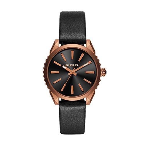 Diesel Dames Analoog Quartz Horloge met Lederen Band DZ5559