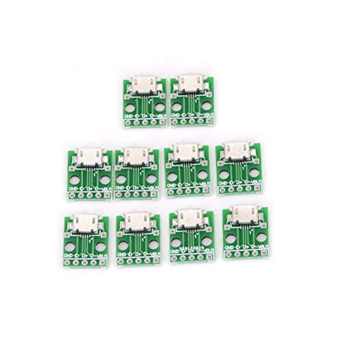 ARCELI 10 stücke Micro USB DIP Adapter 5pin Buchse B Typ PCB Converter Breadboard USB-01 Schalterplatine