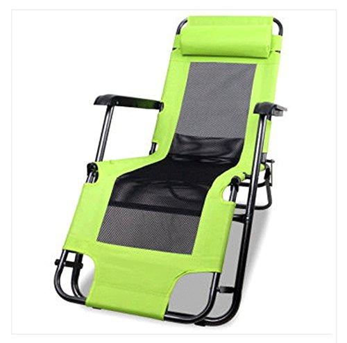 Mlimy Calesa Doble al Aire Libre - Uso Libre Gasa Elemento Plegable Doble - Uso reclinable Ocio Silla Hierba Verde Doble - Uso Silla reclinable