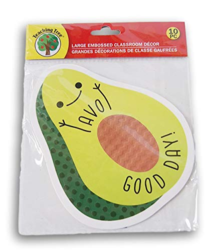 Classroom Decor Embossed Paper Cut-Outs - Avocado ''AVO Good Day!'' - 10 Count