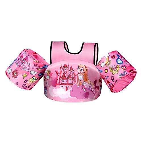 Rrtizan Schwimmweste für Kinder, Schwimmhilfe Passend für Kinder und Kleinkinder von 2-6 Jahren 14-30 kg Jungen und Mädchen, Ideal Schwimmhilfen Schwimmflügel mit Sicherheitsschnalle & Armärmeln