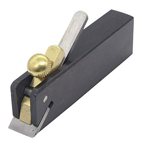Mini Handhobel Einfach zu bedienendes Holzbearbeitungswerkzeug Langlebiger Winkel Manueller Hobel Geigenbauer Werkzeug Geigenbau Zimmermann Holzhobel, Schwarz