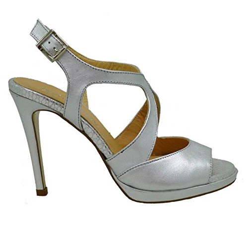 Zapatos Mujer Zapatos Fiesta Pedro Miralles 19368 Plata 38
