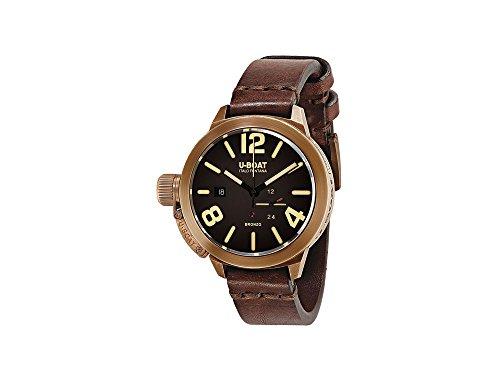 Montre Automatique U-Boat Classico, Bronze, 45mm, Bracelet en cuir, 8103