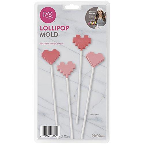 Wilton 2115-4376 Lollipop Heart Candy Molds