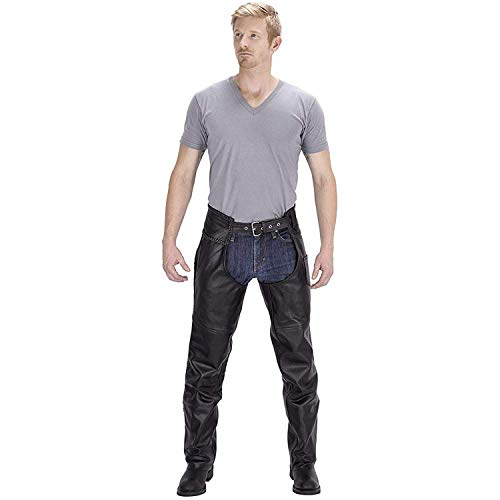 Viking Cycle Leather Chaps - Braided Motorcycle Leather Chaps