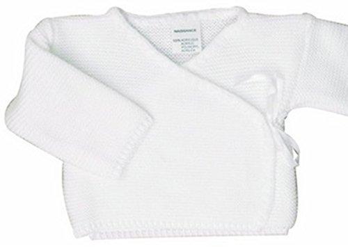 BRASSIERE maternité bebe, idee cadeau naissance, uni cache coeur (0 mois, blanc)