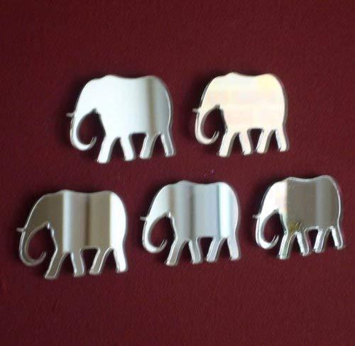 Super Cool Creations Pack of 10 x Elephant Mirror - 4cm x 3cm Each