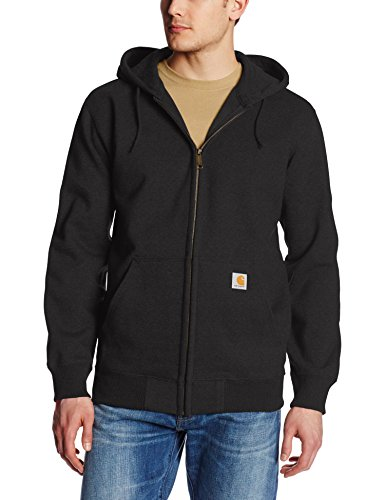 Carhartt Men's Rain Defender Paxton Heavyweight Hooded Sweatshirt, Black, Medium