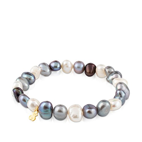 TOUS Sweet Dolls - Bracelet of 0.8 cm Baroque Pearls and 18k Yellow Gold - Length: 17.5 cm