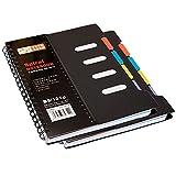 2pc A6 Bloque Espiral Negocio Notebook RingBuch Faux Cuero para estudiantes Ordenador de la Oficina Planificador