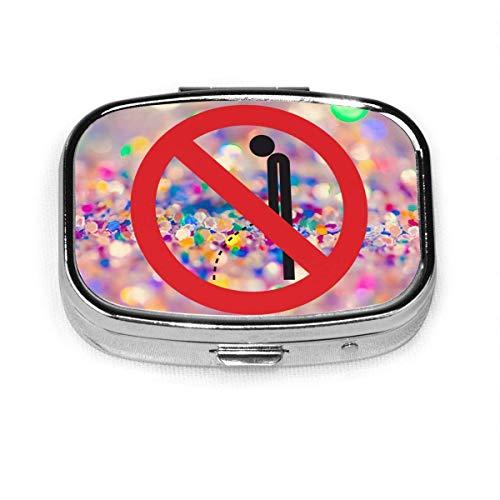 Custodia per organizer per portafogli per tablet con vitamine per medicine quadrate senza minzione