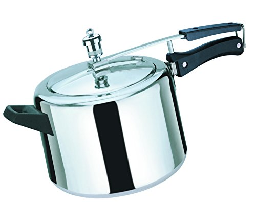 Rico Pressure Cooker Inner Lid 3 liters Fuel Saving Base with Free Extra Gasket & Safety Valve 5 Year Free Replacement Warranty I Made in India