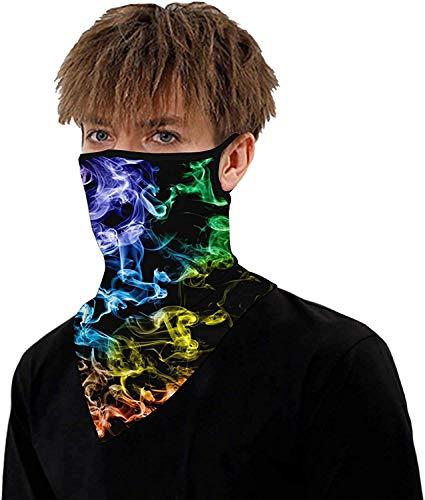 ARKIM Unisex Bandana Face Mask Scarf Face Rave Balaclava Neck Gaiters Dust Cloth Washable Wind Motorcycle Mask Women Men (Style-21)
