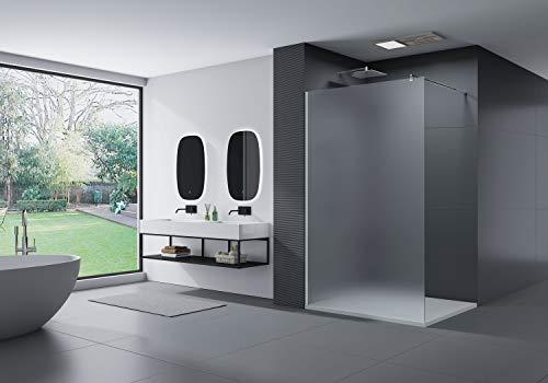 Duschabtrennung Walk-In Nano Echtglas EX101 - Milchglas - Breite wählbar, Breite Walk-In:1400mm