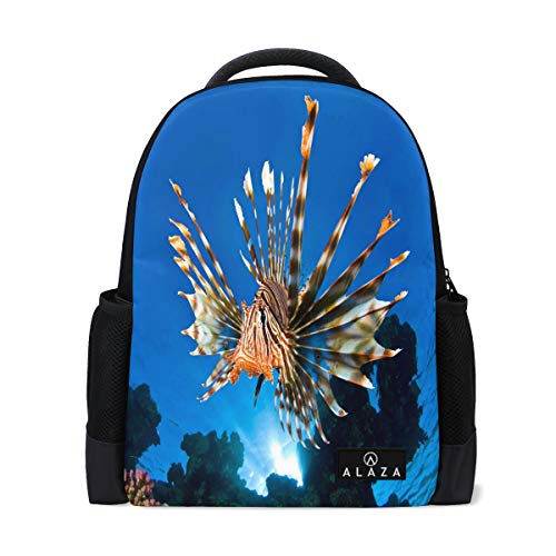 Travel Laptop Backpack Women Print Bookbags Lionfish Best School College Student Daypack for Girls Teenage