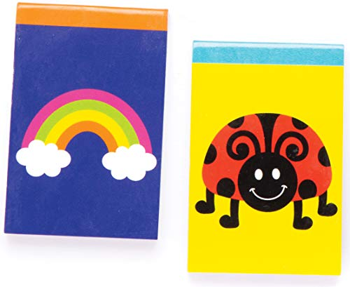 Baker Ross Novelty Notebooks (Pack of 12) Perfect for Goodie Bags, Halloween Party Favours, Pinata Filler or Birthday Present